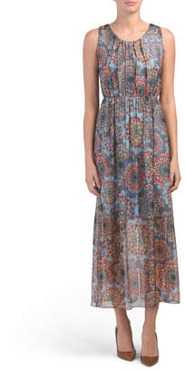 64787139239a Made In Italy Floral Print Silk Blend Maxi Dress
