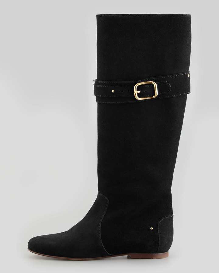 Chloé Paddington Suede Flat Knee Boot