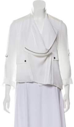 Helmut Lang Leather-Trimmed Lightweight Jacket