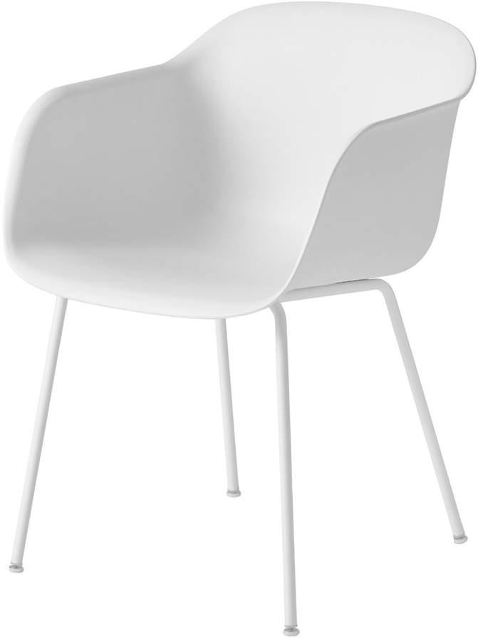 Muuto - Fiber Chair - Tube Base, Weiß / Weiß