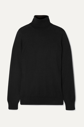 Loro Piana Cashmere Turtleneck Sweater - Black