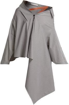 Palmer Harding PALMER/HARDING Jasmin off-the-shoulder striped cotton shirt