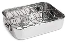 Essential Needs Rectangular Stainless Steel Roaster Pan with Rack