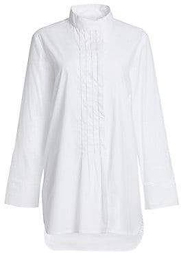 Fabiana Filippi Women's Metallic Trim Bib Tunic Shirt