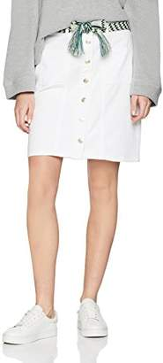 Esprit edc by Women's 048cc1d007 Skirt, (White 0), (Size: 38)