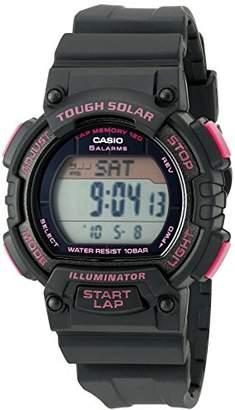 Casio Women's STL-S300H-1CCR Solar Runner Digital Display Quartz Black Watch