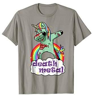 Death Metal Rocker Shirt Unicorn Death Graphic T Shirt
