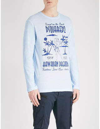 DSQUARED2 Printed cotton-jersey top