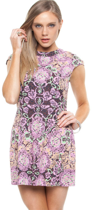 Shakuhachi Cosmosis Lace Party Dress