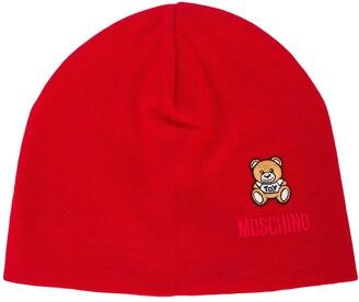 Moschino Teddy Bear patch beanie
