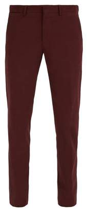 Ermenegildo Zegna Stretch Cotton Chino Trousers - Mens - Dark Red