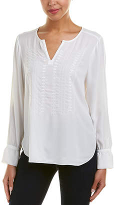 NYDJ Embroidered Top