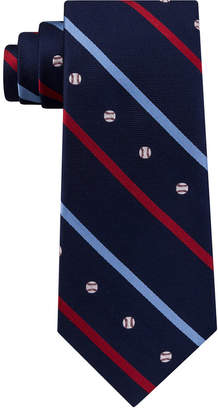 Club Room Men Baseball Silk Tie