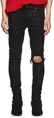 Amiri Men's Broken Coated Skinny Jeans
