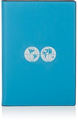 Connor Globe-Motif Leather Notebook