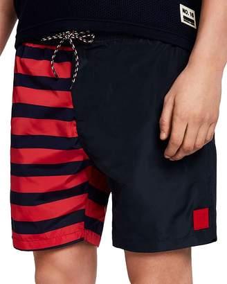 6106bfd289 Scotch & Soda Brutus Striped Color-Block Swim Shorts