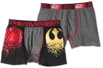 Star Wars Men's 2-Piece First Order vs. Resistance Logo Boxers