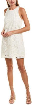 Lavender Brown Eyelet Shift Dress