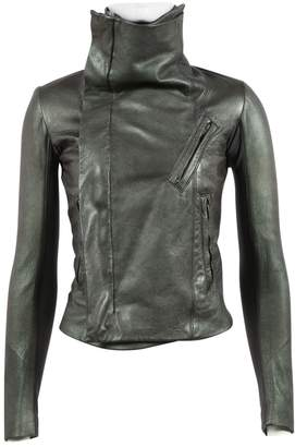 Rick Owens Green Leather Jackets