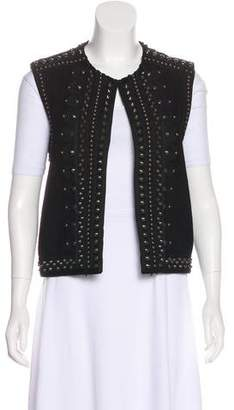 Saint Laurent Embellished Suede Vest