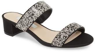 Nina Georgea Crystal Embellished Slide Sandal (Women)