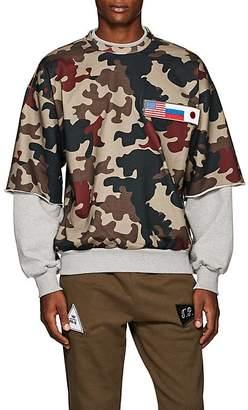 Gosha Rubchinskiy Men's Patch-Detailed Camouflage Cotton Sweatshirt