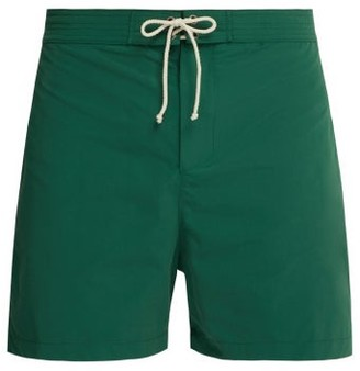 Bower - Laced Waistband Swim Shorts - Mens - Green