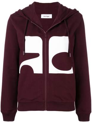 Courreges logo zipped hoodie