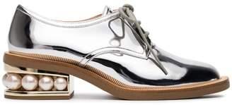 Nicholas Kirkwood Silver Casati Pearl 35 Derby shoes
