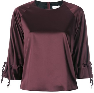 Rosetta Getty ruched drawstring sleeve top
