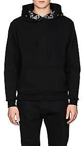 424 Men's Paisley-Print Cotton Terry Hoodie - Black