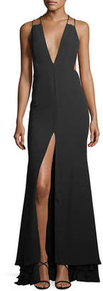Fame & Partners Surreal Dreamer Deep V-Neck Gown