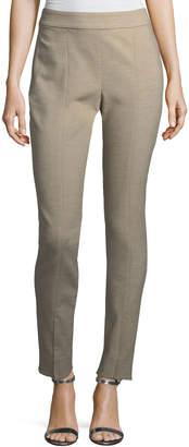 St. John Summer Bella Double-Weave Skinny Pants