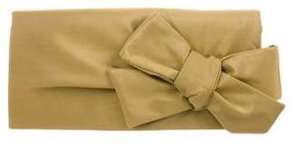 Christian Louboutin Satin Bow Clutch