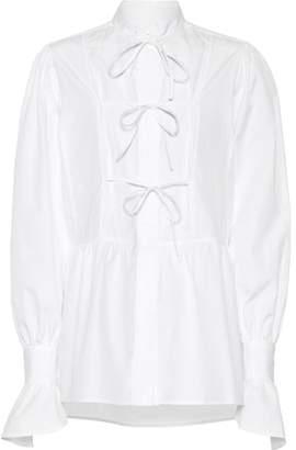 ALEXACHUNG Cotton tie blouse