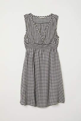 H&M MAMA Patterned Dress - Black