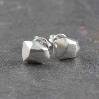 Otis Jaxon Silver Jewellery Nugget Sterling Silver Stud Earrings
