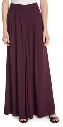 Eileen Fisher Silk Georgette Wide-Leg Pants
