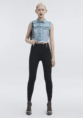Alexander Wang CROPPED DENIM VEST