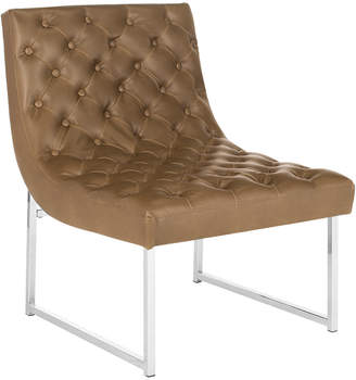 Safavieh Hadley Leather Tufted Accent Chair