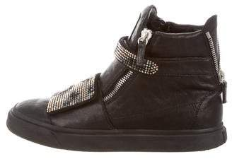 Giuseppe Zanotti Embellished High-Top Sneakers