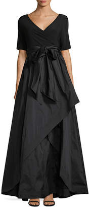 Adrianna Papell A-Line Wrap Gown