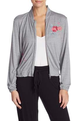 Josie Floral Embroidered Zip Jacket