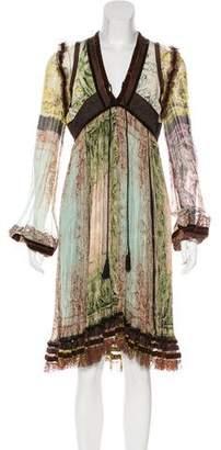 Jean Paul Gaultier Printed Silk Dress w/ Tags