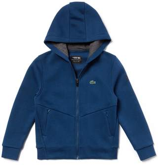 Lacoste Boys' SPORT Zip Technical Fleece Sweatshirt - x Novak Djokovic Off Court Premium Edition