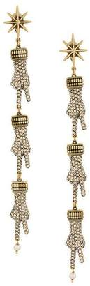 Gucci hand pendant clip on earrings