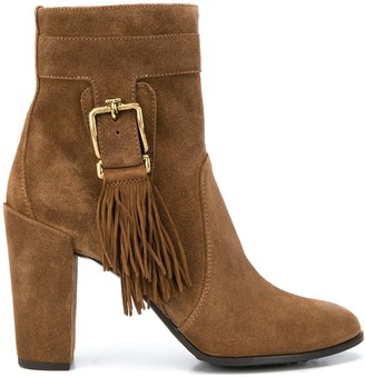 Tod's fringed ankle boots