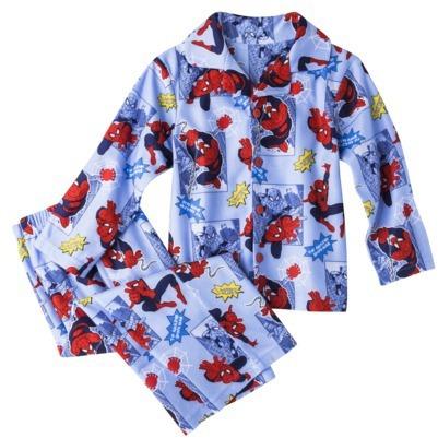Spiderman Toddler Boys' Button Down Shirt Pajama Set