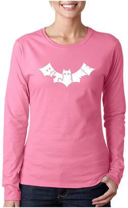 LOS ANGELES POP ART Los Angeles Pop Art Bat - Bite Me Long Sleeve Graphic T-Shirt