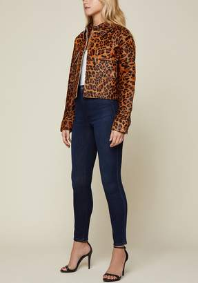 Juicy Couture Leopard Print Pony Hair Jacket